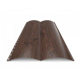 Металлический сайдинг Блок-Хаус тип 3 Темное Дерево