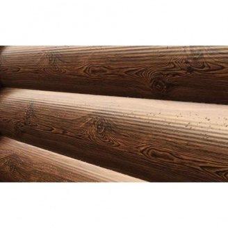 Металлический сайдинг Блок-Хаус тип 2 Темное Дерево
