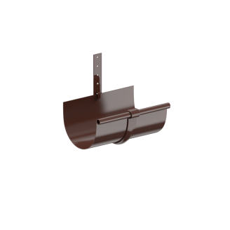 Держатель желоба Fitt металл 125 коричневый