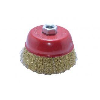 Щетка-кравцовка Чашка рефл проволока 100 мм М 14 H-TOOLS 60 K 210