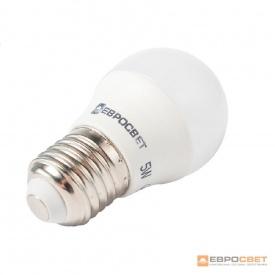 Лампа светодиодная ЕВРОСВЕТ 5 Вт 3000 К Р-5-3000-27 E27
