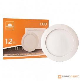 Светильник точечный врезной ЕВРОСВЕТ 12 Вт LED-R-170-12 6400 К круг