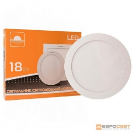 Світильник точковий накладний ЕВРОСВЕТ 18 Вт LED-SR-225-18 6400 К коло