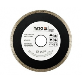 Круг отрезной алмазный для мокрой резки YATО 125x5,3x22,2 мм 2,2 мм
