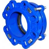Муфта-фланець для сталевих і чавунних труб тип 9152 JAFAR чавун GGG50 DN 150 Dz 157-185