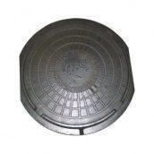Люк чавунний каналізаційний полегшений ПЛ-1 2,5 т з замком (1.02)