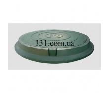 Люк легкий канализационный полимерпесчаный 2 т зеленый (14.22.1) (IMPA525)