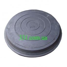 Люк легкий канализационный полимерпесчаный 2 т с замком черный (14.22.01) (IMPA526)