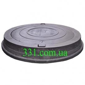 Люк важкий каналізаційний полімерпіщаний (С250) 25 т з замком чорний (14.31.1) (IMPA534)