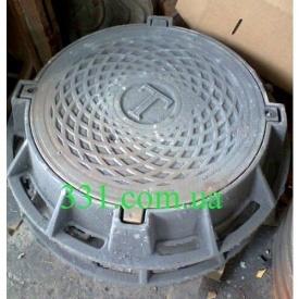 Люк чавунний каналізаційний важкий Т 25 т з замком (2.06.1) (IMPA558)