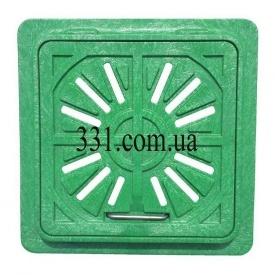Люк-мини пластмассовый квадратный решетка 300х300 мм (13.08.3) (IMPA580)