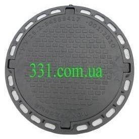 Люк садовый пластмассовый легкий №2 1 т черный (13.00.5) (IMPA600)