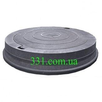 Люк магистральный канализационный полимерпесчаный (Д400) 40 т черный (14.32) (IMPA533)