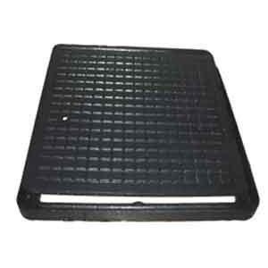 Люк чугунный канализационный квадратный ЛК 300х300  мм черный (1.02.10) (IMPA538)