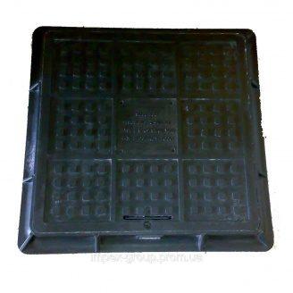 Люк полимерпесчаный квадратный ЛМ  (А15) 480х480  мм черный (14.03.1)