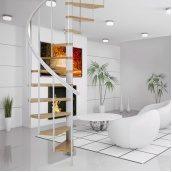 Винтовая лестница DOLLE Calgary Белая для дома