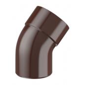 Колено Fitt 125 45 градусов коричневый