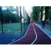 Резиновое покрытие спортивных площадок под ключ