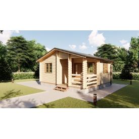 Будівництво садового будинку з профільованого бруса 6х5,5 м