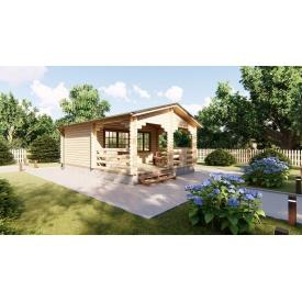 Будівництво дерев'яного будинку дворівневого з мансардою з профільованого бруса 5,4х3,0 м