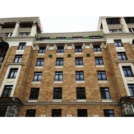 Вентилируемый фасад с декоративным камнем