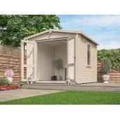 Садовий будиночок з профільованого бруса 3х3 м