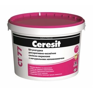 Штукатурка декоративно-мозаичная Ceresit CT 77 силикон-акриловая 1,4-2,0 мм 14 кг CHILE 1