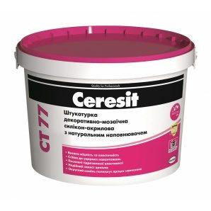 Декоративная мозаичная штукатурка Ceresit CT 77 силикон-акриловая 0,8-1,2 мм 14 кг 1D