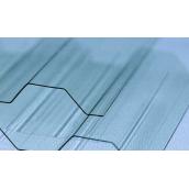 Профільований монолітний полікарбонат Borrex прозорий 1,05x2 м