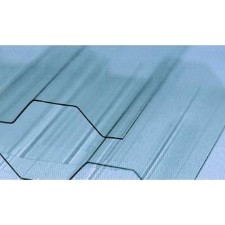 Профилированный монолитный поликарбонат Borrex прозрачный 1,05x2 м