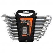 Набір ключів рожково-накидних Premium Miol CrV сатин 8-19 мм шт 8