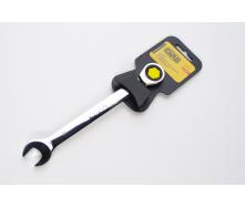 Ключ рожково-накидний СИЛА CrV 202012 з трещеткой 8 мм