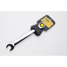 Ключ рожково-накидной СИЛА CrV 202012 с трещеткой 8 мм