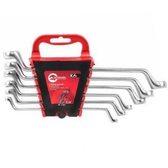 Набір накидних ключів INTERTOOL НТ-1101 CrV 6-17 мм 6 шт