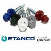 Шурупи по дереву Etanco для кріплення металочерепиці/профнастилу 4,80x35 мм 250 шт/уп