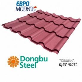 Металлочерепица Евромодуль Веста-20 matt Dongbu Steel Корея 0,47 мм