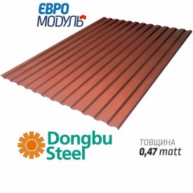 Металлопрофиль Евромодуль Т-14 matt Dongbu Steel Корея 0,47 мм