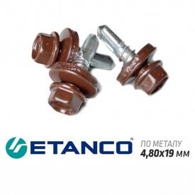 Шурупи по металу Etanco для кріплення металочерепиці/профнастилу 4,80x19 мм 250 шт/уп