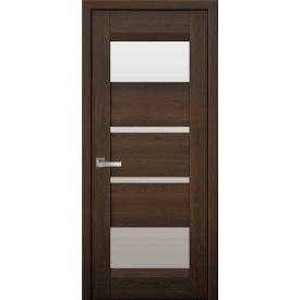 Дверне полотно Ібіца дуб шоколадний зі склом сатин