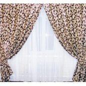 Штори блекаут двосторонній VR-Textil 100 × 270 см коричневий бежевий (2035)