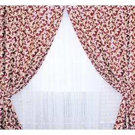 Шторы блэкаут двусторонний VR-Textil 100 × 270 см бордовый (2037)
