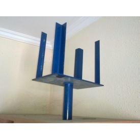 Корона для стійки Гарант сталь синя