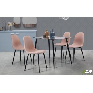 Обеденный комплект мебели АМФ стол Умберто + стулья Лучия Капучино - набор 5 едениц