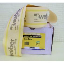Герметизирующая лента WEBER weber.tec 828 DB 75 120 мм 50 м