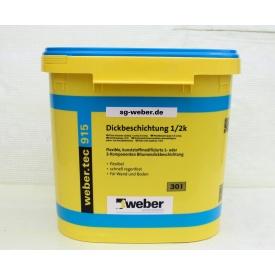 Високоеластична гідроізоляційна бітумна мастика WEBER weber.tec 915 30 л