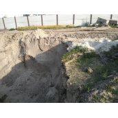 Доставка овражного песка самосвалом Daf Cf 85