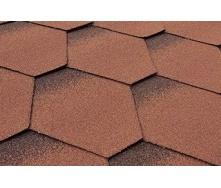 Бітумна черепиця Matizol Hexagon SBS 3D меланж коричнева