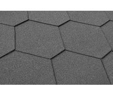 Бітумна черепиця Matizol Hexagon SBS 3D меланж графіт