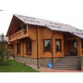 Строительство дома из оцилиндрованного бруса 220 мм