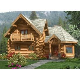 Строительство дома из дикого бруса